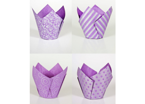 Designer Baking Cases Purple & Lilac (200)