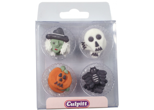 Assorted Halloween Sugar Pipings (Acetate Box)