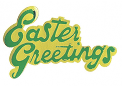 Easter Greetings Paper Motto