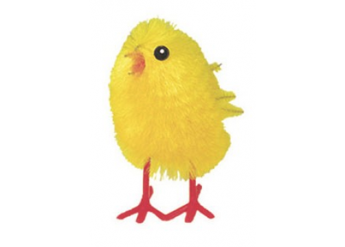 Medium Yellow Chenille Chicks - 38mm