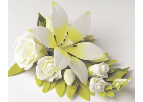 Jem Medium Bridal Lily Bouquet - 152mm