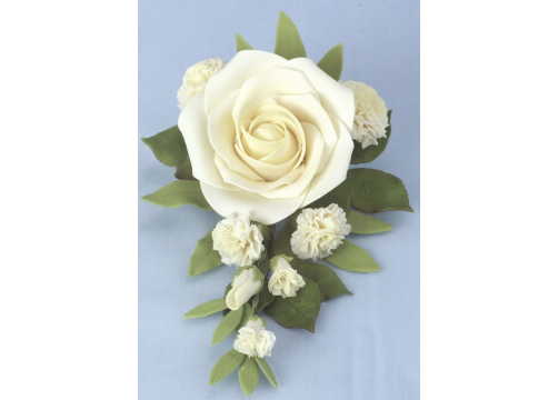 Jem Medium Ivory Bridal Rose Bouquet - 178mm