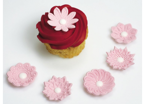 Pink Textured Sugar Flowers