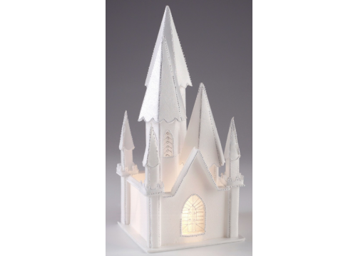Illuminated Styrofoam Church