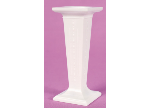 3.5'' Square White Plastic Pillars