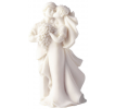 Resin Just Married with Flowers Bride and Groom