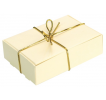 Ivory with Gold Elastic Ribbon Wedding Cake Box