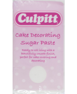 White 1kg - single Culpitt Cake Decorating Sugar Paste