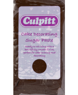 Chocolate Flavour 1 x 250g - Culpitt Cake Decorating Sugar Paste