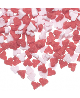 Pink and Red Mini Heart Sugar Sprinkles - 2kg