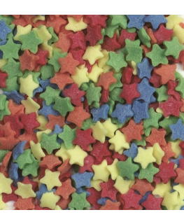 Sugar Sprinkle Stars - 2kg Multicoloured