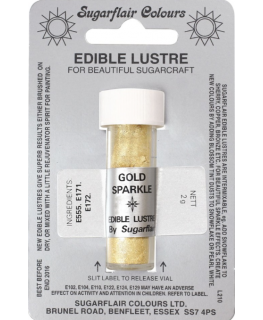 Sugarflair Edible Lustre Colour - Gold Sparkle
