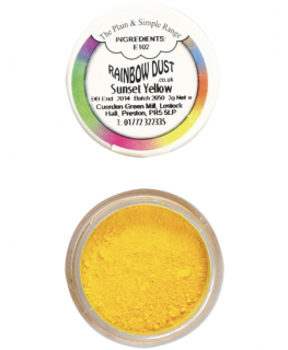 Rainbow Dust Plain and Simple Dust Colouring - Sunset Yellow