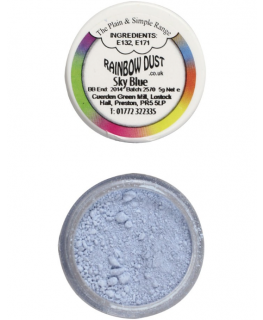 Rainbow Dust Plain and Simple Dust Colouring - Sky Blue