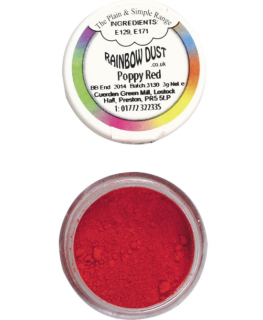 Rainbow Dust Plain and Simple Dust Colouring - Poppy Red