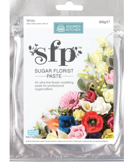 Squires Sugar Florist Paste (SFP) - Opaque White - 200g