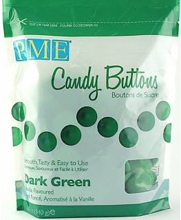 PME Candy Buttons Vanilla Dark Green 340g