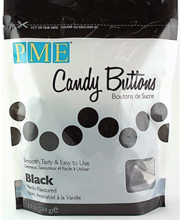 PME Candy Buttons Vanilla Black 340g