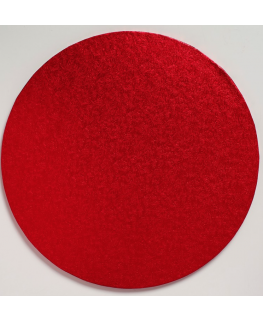 12'' (304mm) Cake Board Round Red - single