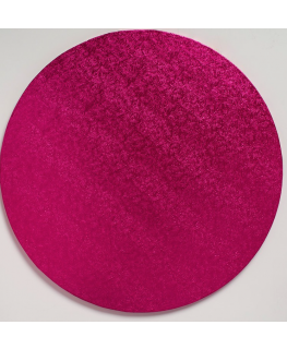 10'' (254mm) Cake Board Round Cerise - single