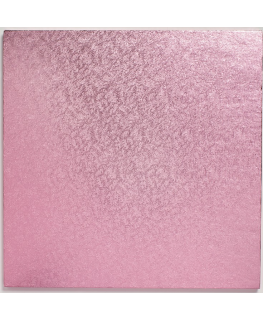 10'' (254mm) Cake Board Square Light Pink - single