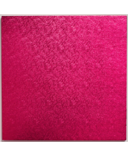 10'' (254mm) Cake Board Square Cerise - single