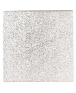 10'' (254mm) Double Thick Square Turn Edge Cake Cards Silver Fern (3mm thick) - Individually Wrapped - single