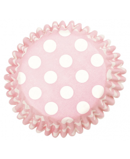 Pink Spot Printed Baking Cases