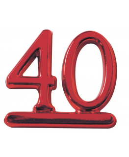 Plastic Red Numeral '40'