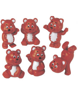 Plastic Little Brown Bears