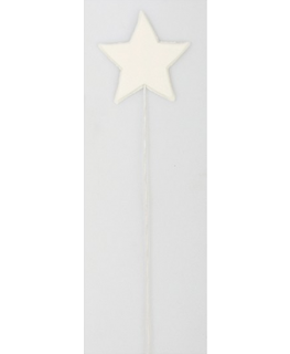 White Stars on Wires 40mm