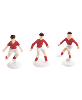 Plastic Small Footballer Red
