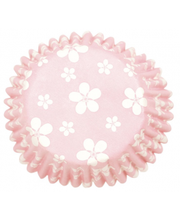 Pink Blossom Printed Baking Cases