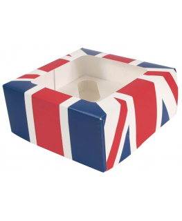 Union Jack 4 Cupcake/Muffin Box