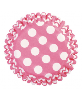 Cerise Spot Printed Baking Cases