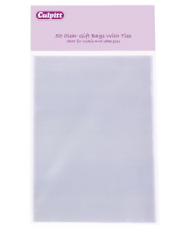 Small Clear Gift Bags with Ties 50 piece