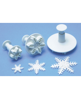 PME 3 Set Snowflake Plunger Cutters