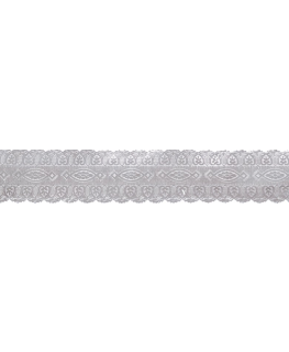 Silver Coloured Embossed Cake Band - 25mm x 50m
