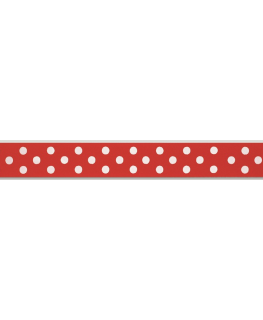 Red Polka Dot Ribbon - 24mm x 25m