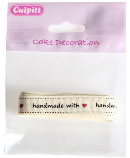 Handmade With Love Ribbon Retail Pack 13mm x 2m