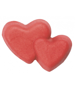 Double Red Sugar Heart - 18mm