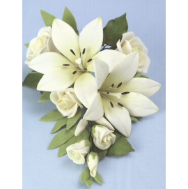 Jem Large Ivory Bridal Lily Bouquet - 203mm