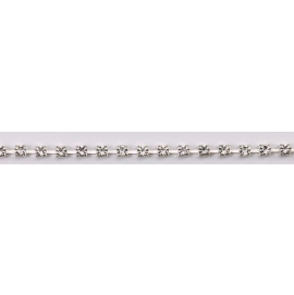 Diamante Trim Silver Colour Setting - 1 metre