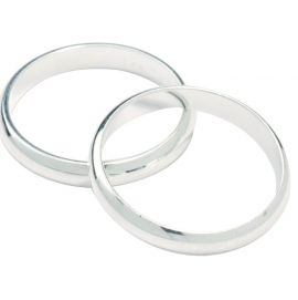 Gold Colour Wedding Rings - 18mm