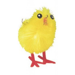Small Yellow Chenille Chicks - 32mm