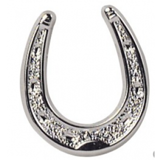 Plastic Silver Colour Horseshoe - 19mm
