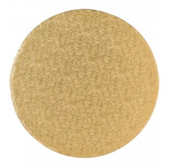 8'' (203mm) Cake Board Round Gold Fern