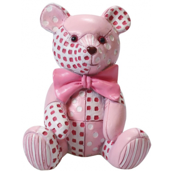 Figurine - Pink Patchwork Ted