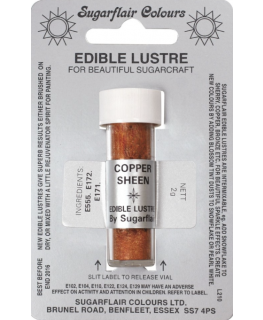 Sugarflair Edible Lustre Colour - Copper Sheen