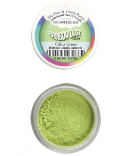 Rainbow Dust Plain and Simple Dust Colouring - Citrus Green
